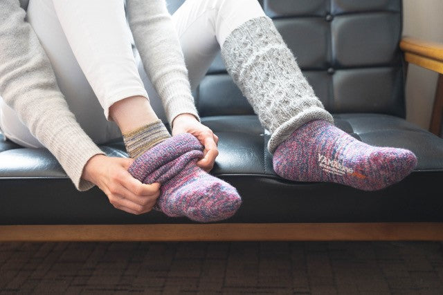 Secrets of the warmth: Layer socks style with Corpilon Pile Heat Socks x Rayon Silk Socks