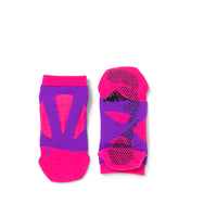 Round Toe Spider Arch Compression Short Socks with Non-Slip Dots