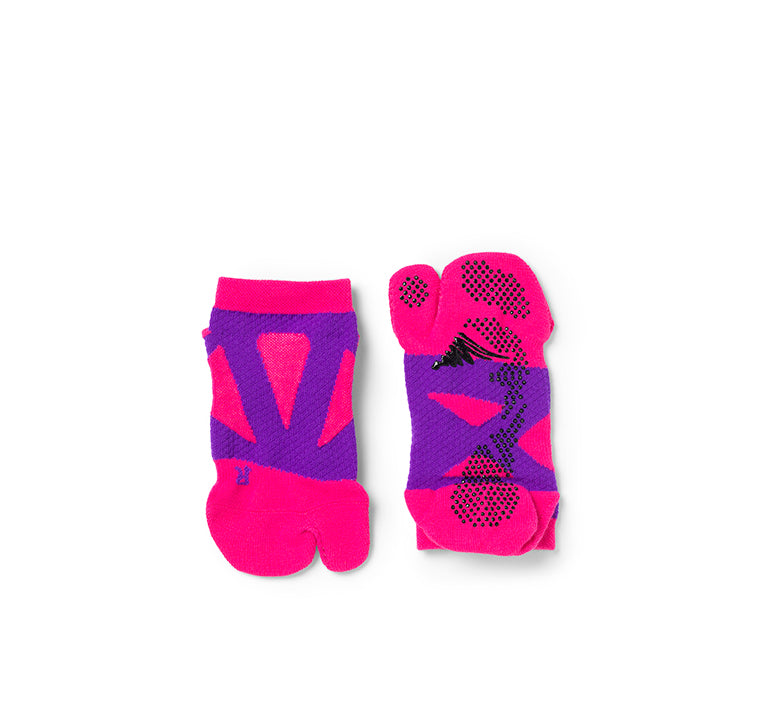 【Junior】 2 Toe Spider Arch Compression Short Socks with Non-Slip Dots