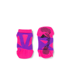 【Junior】 Round Toe Spider Arch Compression Short Socks with Non-Slip Dots