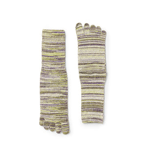 Men's 5 Toe Rayon Silk Crew Socks
