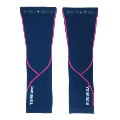 Yamatune Complete Protection Arm Sleeves With Compression Support Indigo Pink