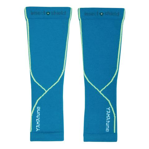 Yamatune Complete Protection Arm Sleeves With Compression Support Turquoise Yellow