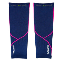 YAMAtune Calf Sleeves With Compression Support & Insect Shield® - Indigo/Pink