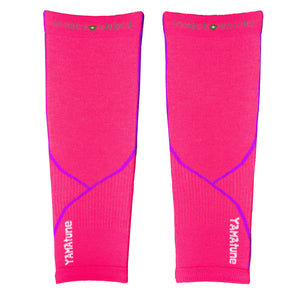 YAMAtune Calf Sleeves With Compression Support & Insect Shield® - Pink/Purple