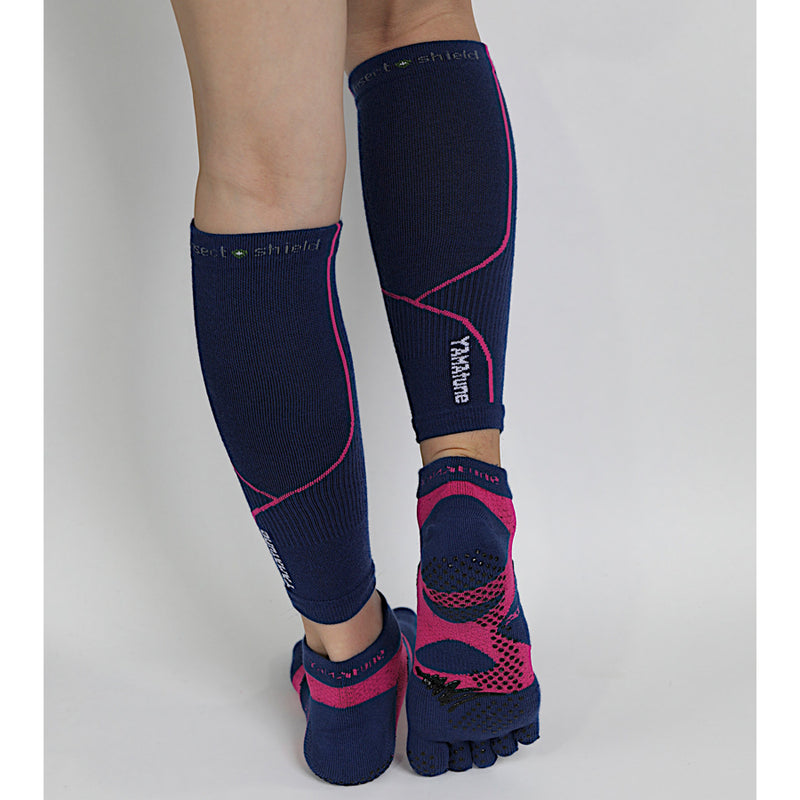 Complete Protection Calf Sleeves With Compression Support & Insect Shield® Indigo Pink