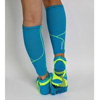 Complete Protection Calf Sleeves With Compression Support & Insect Shield® Turquoise Yellow