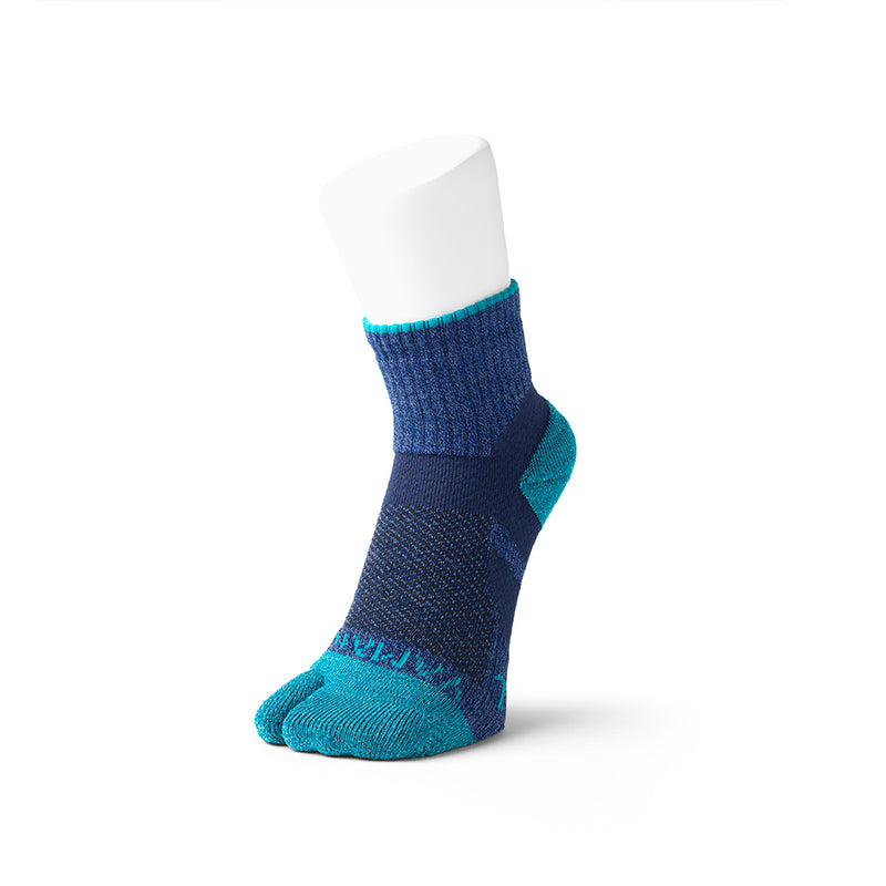2 Toe Outdoor Dual Arch Support Low Crew Socks