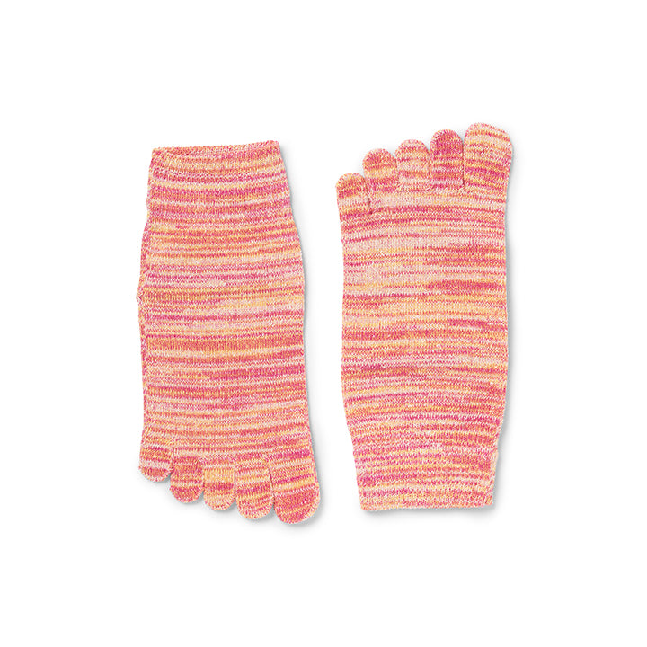 Women's 5 Toe Rayon Silk Short Socks