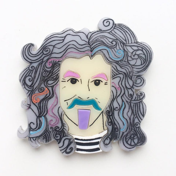 Billy Connolly Acrylic Brooch / Badge