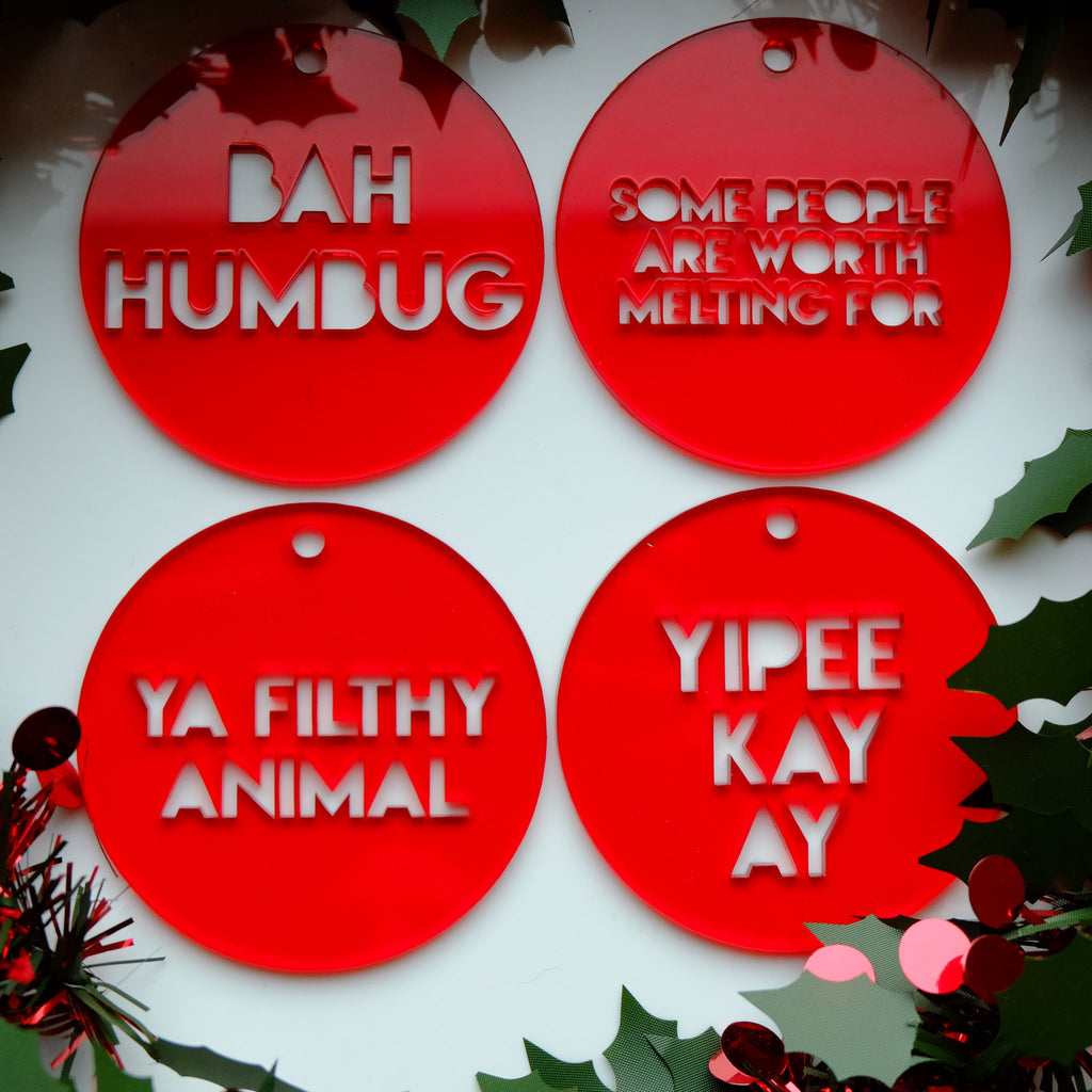 Christmas Movie Decoration Set - 3 colours available!