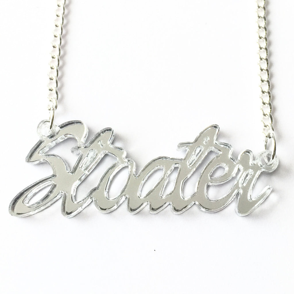 Stoater Script Necklace