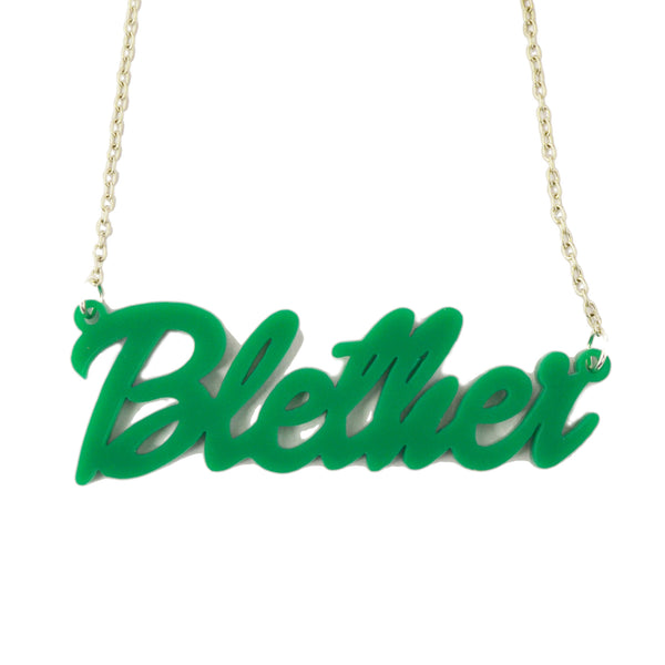 Blether Acrylic Necklace