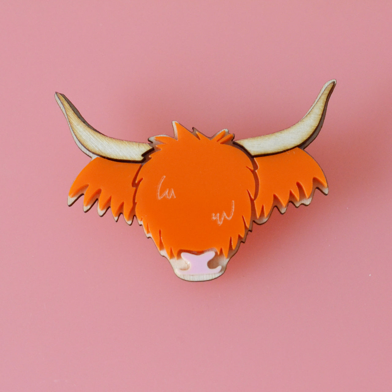 Ecoo-Friendly Wee Highland Cow Brooch