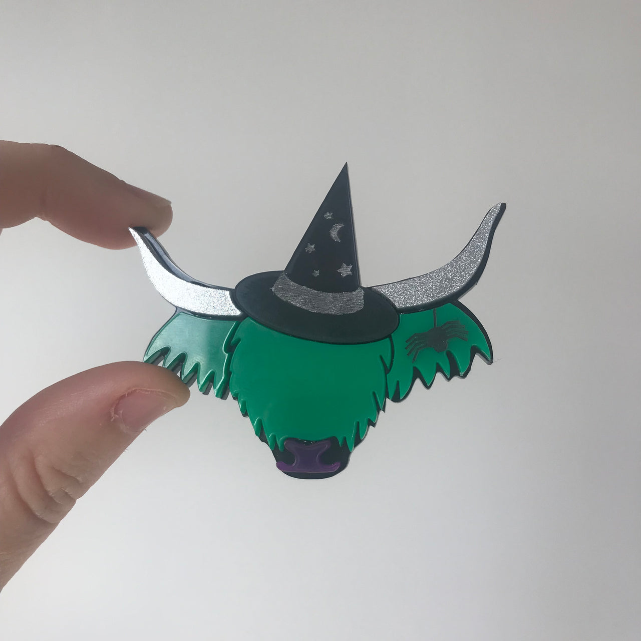 WitchyCoo Limited Edition Halloween Highland Cow Brooch