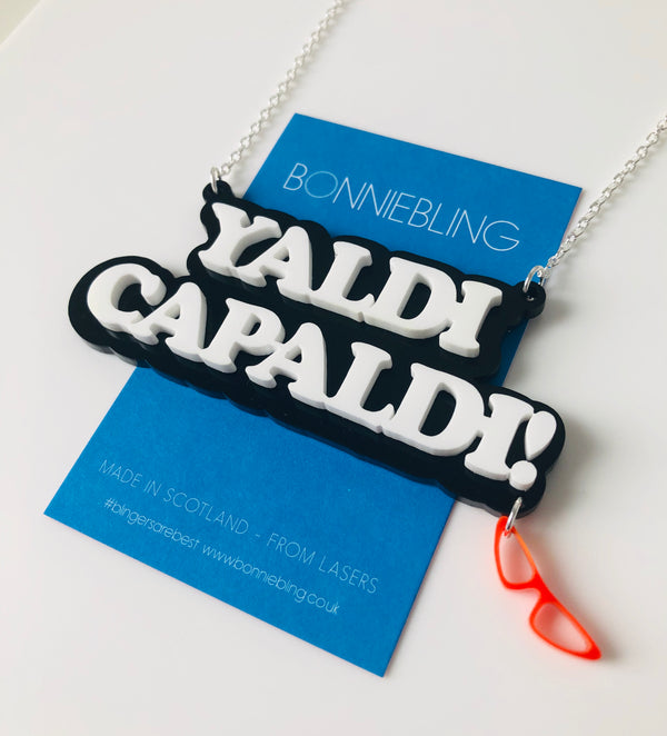 Yaldi Capaldi Necklace - With Sunglasses Charm