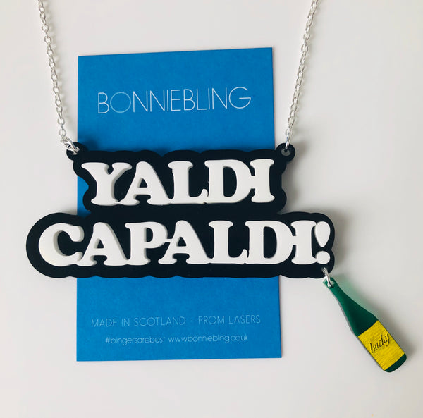 Yaldi Capaldi Necklace - With Bucky Bottle Charm