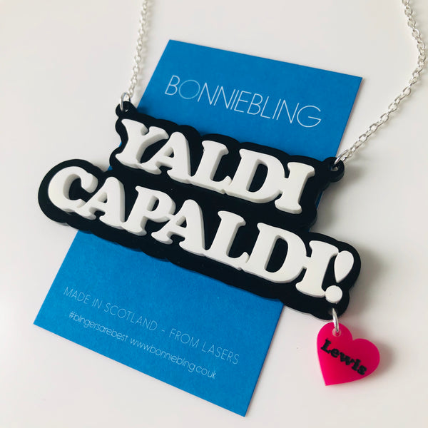 Yaldi Capaldi Necklace - With Lewis Heart Charm