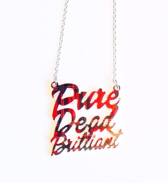 Scottish Tartan 'Pure Dead Brilliant' Necklace