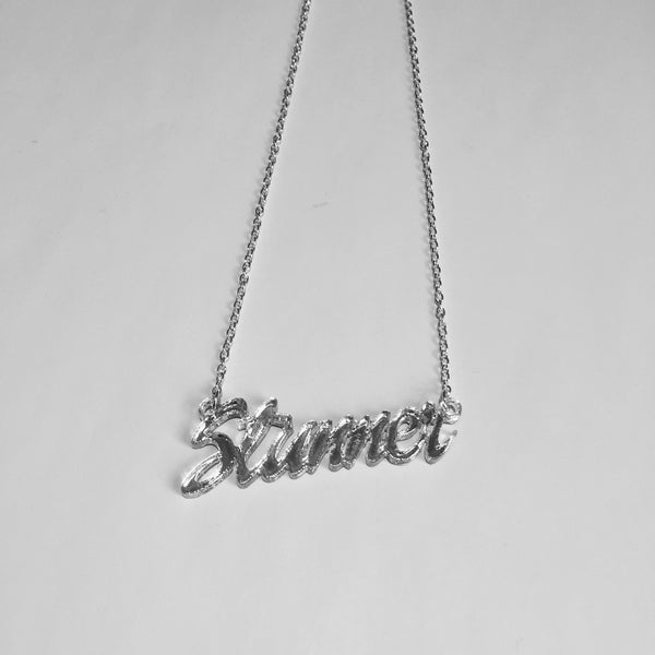 Stunner Script Necklace