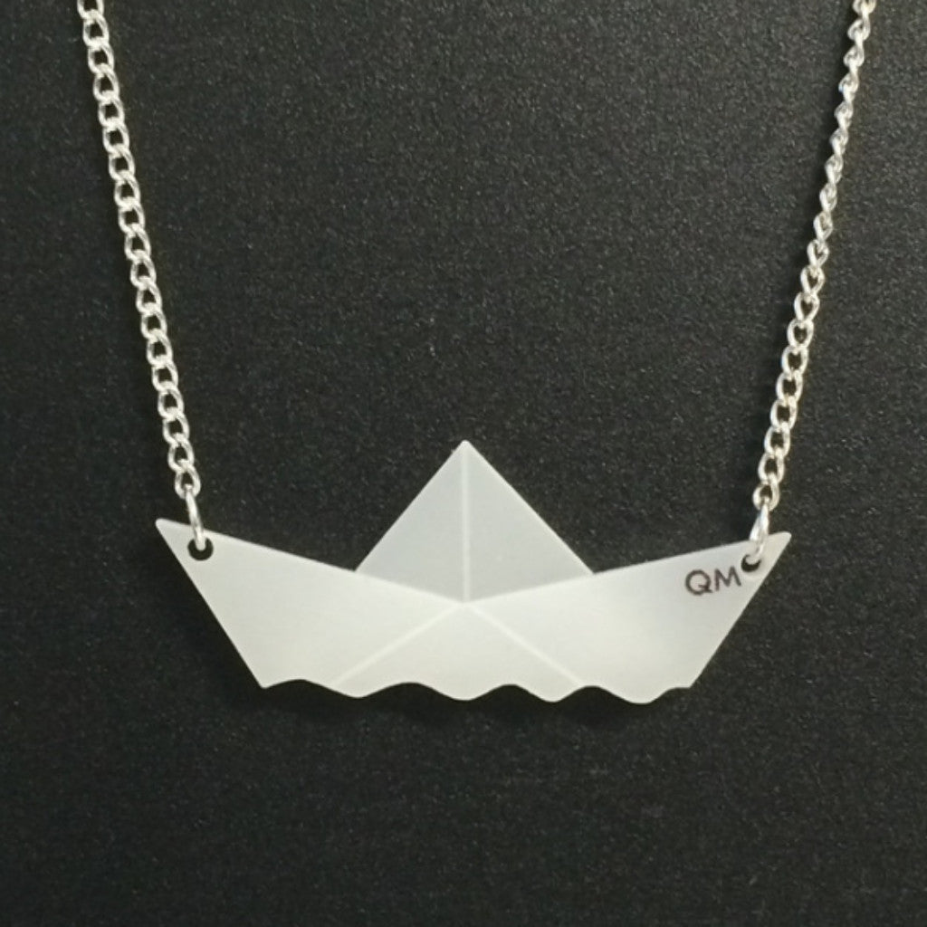 George Wyllie Paper Boat necklace - small