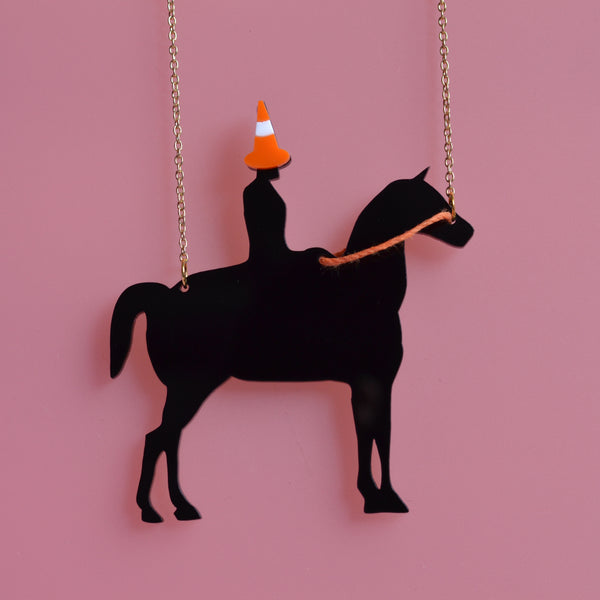 Original Duke of Wellington Traffic Cone Horse Necklace
