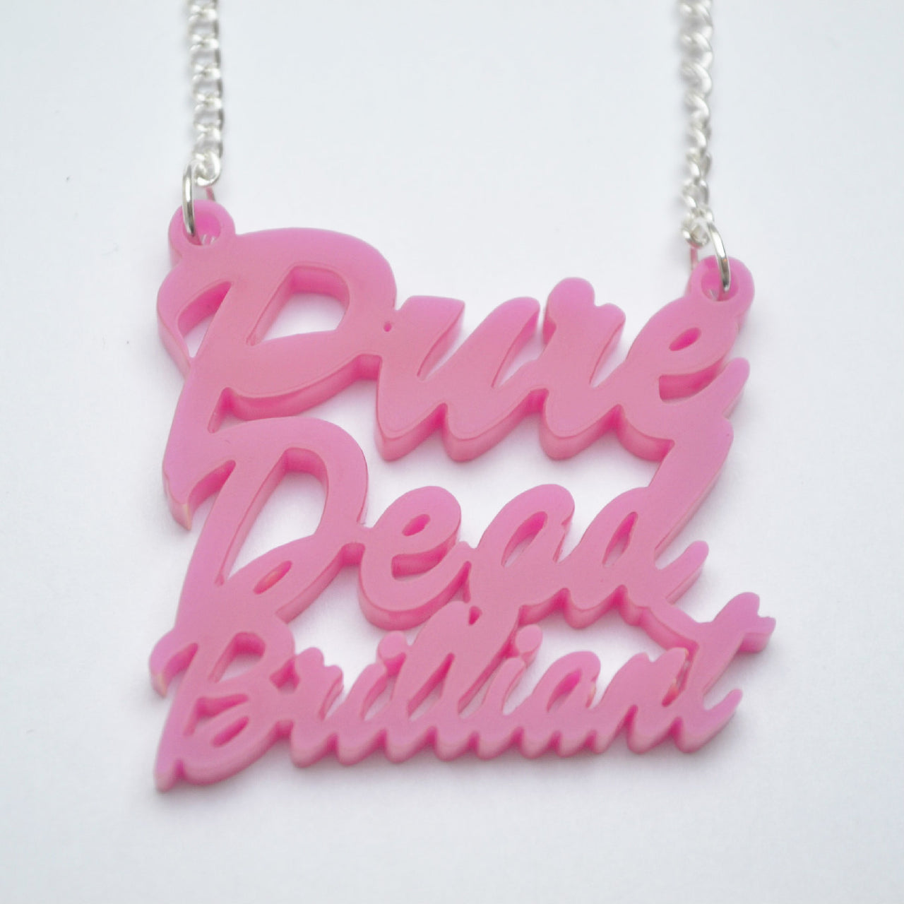 Pure Dead Brilliant Script Necklace
