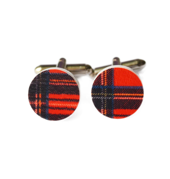 Scottish Tartan Acrylic Cufflinks