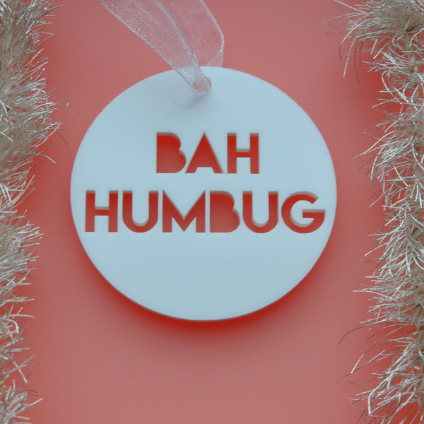 Bah Humbug - Christmas Decoration Scrooge Movie Quote