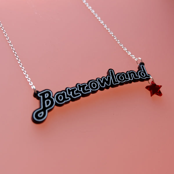 Barrowland necklace with contrast star charm - 4 colours available!