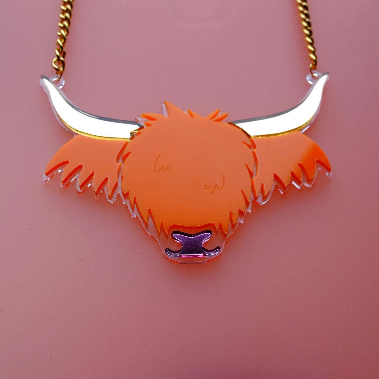Big Cow - Highland Cow Statement Necklace