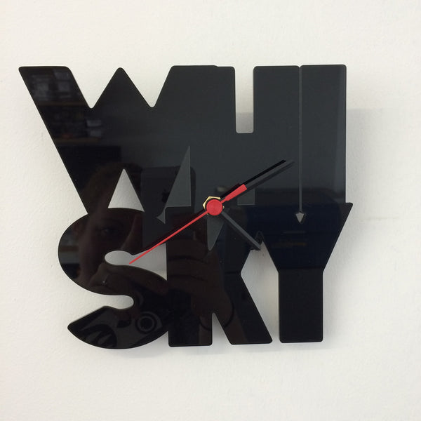 Whisky Acrylic Clock