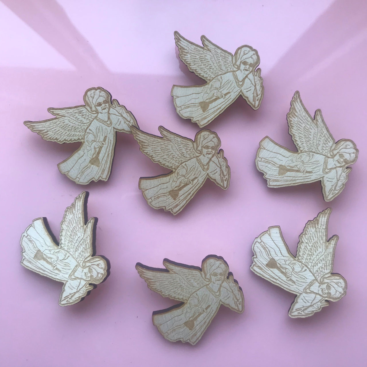 Lewis Capaldi Angel Brooch Pin Badge