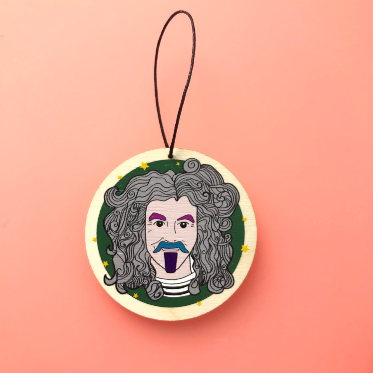 Billy Connolly Wooden Decoration - Green