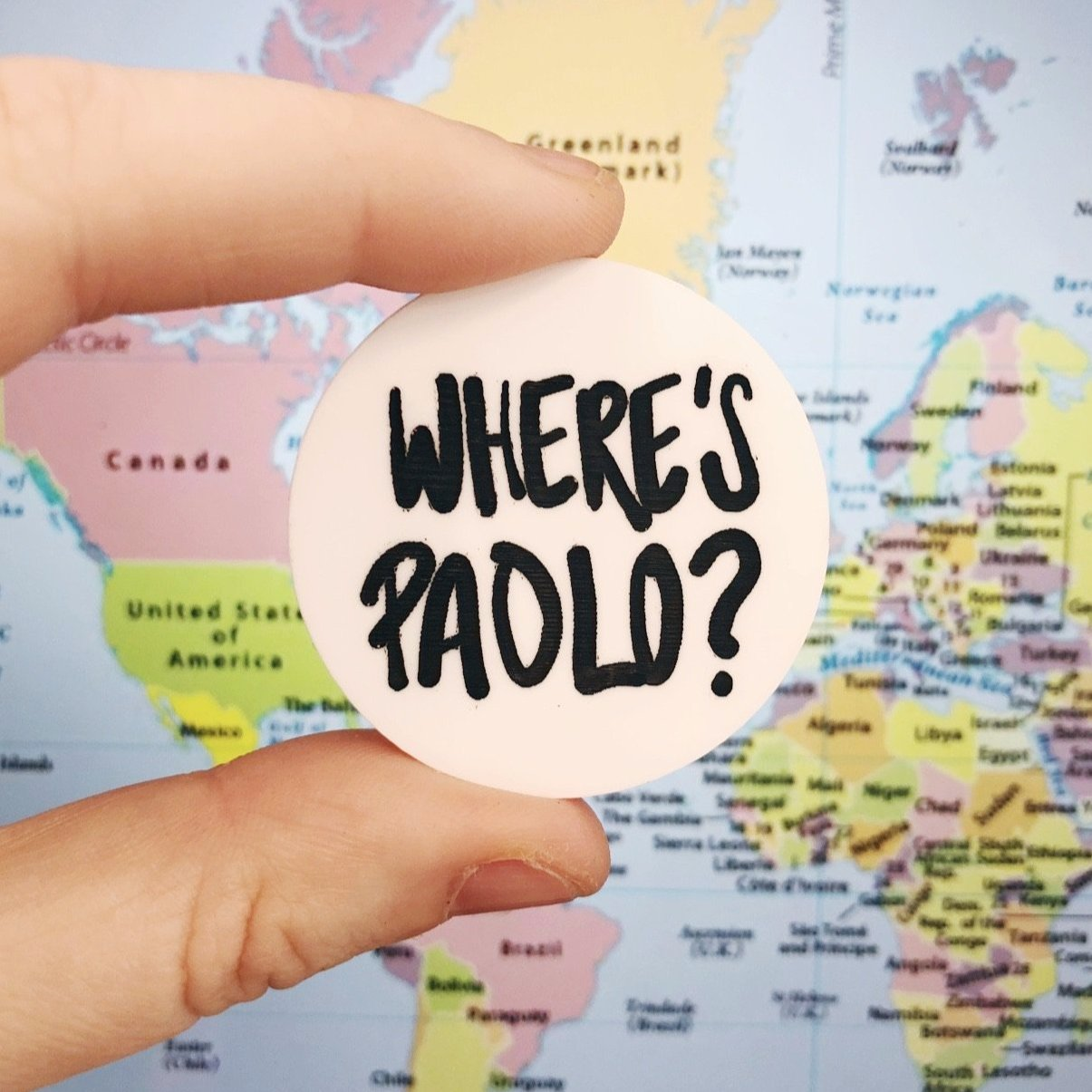 Where's Paolo? Paolo Nutini Fan Brooch Badge