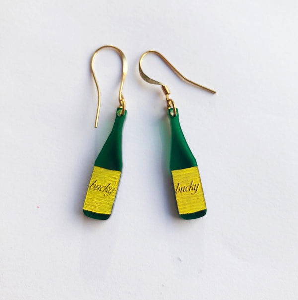 Bucky, Buckfast inspired, Bottle Acrylic Earrings
