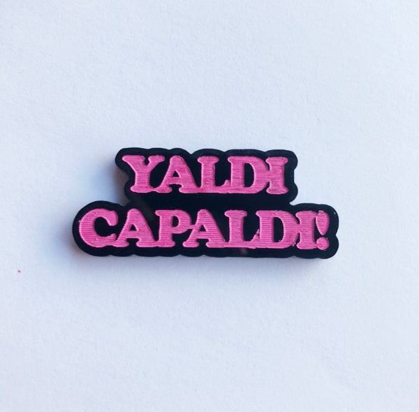 Yaldi Capaldi Pin Badge Brooch