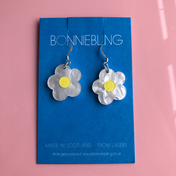 Strawberry Flower Dangle Earrings