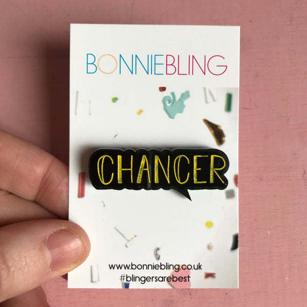 Chancer Acrylic Pin Badge