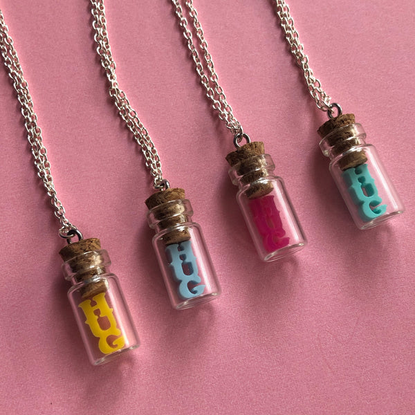 Hug in a Jug Bottle Necklace