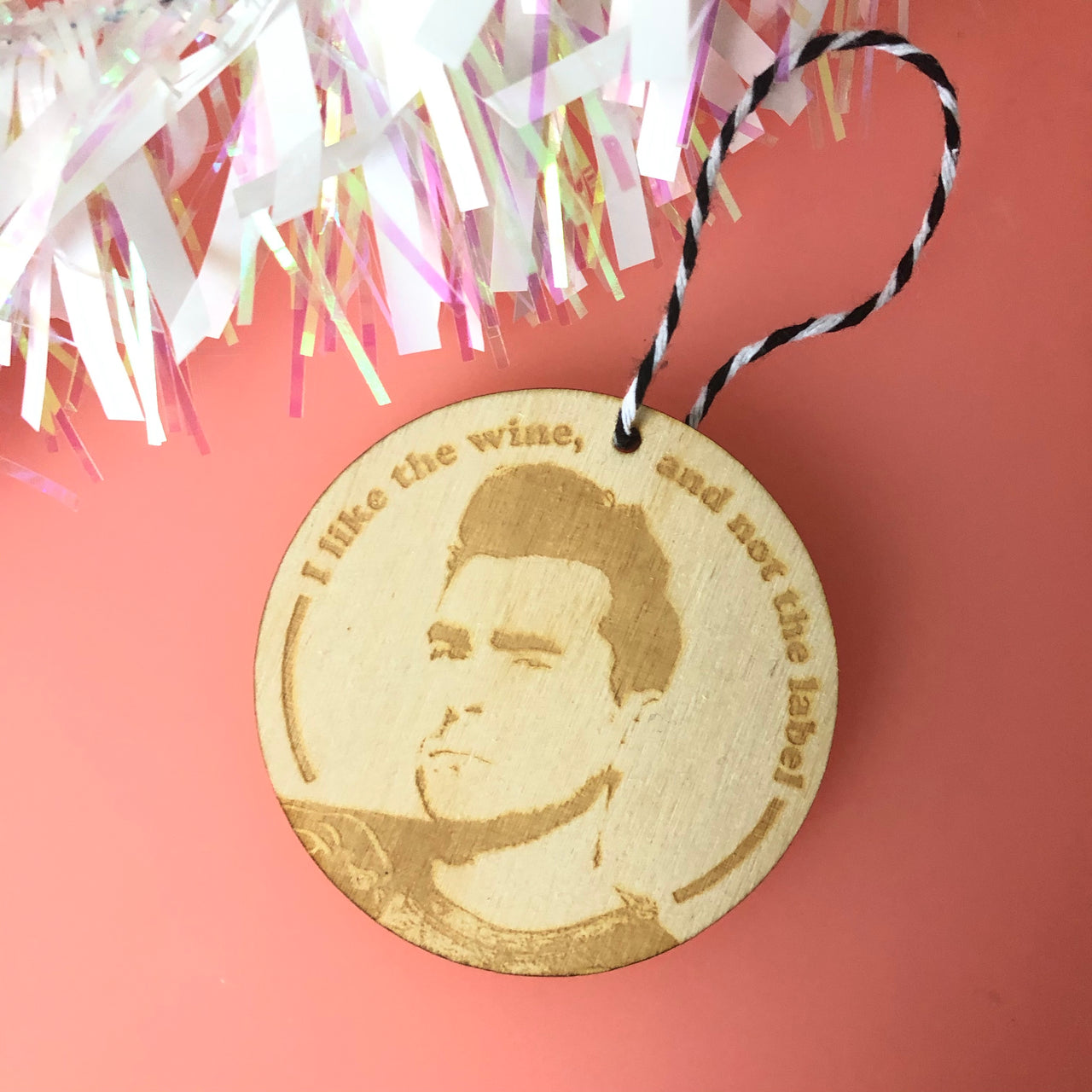 Schitt's Creek David Wooden Christmas Decoration