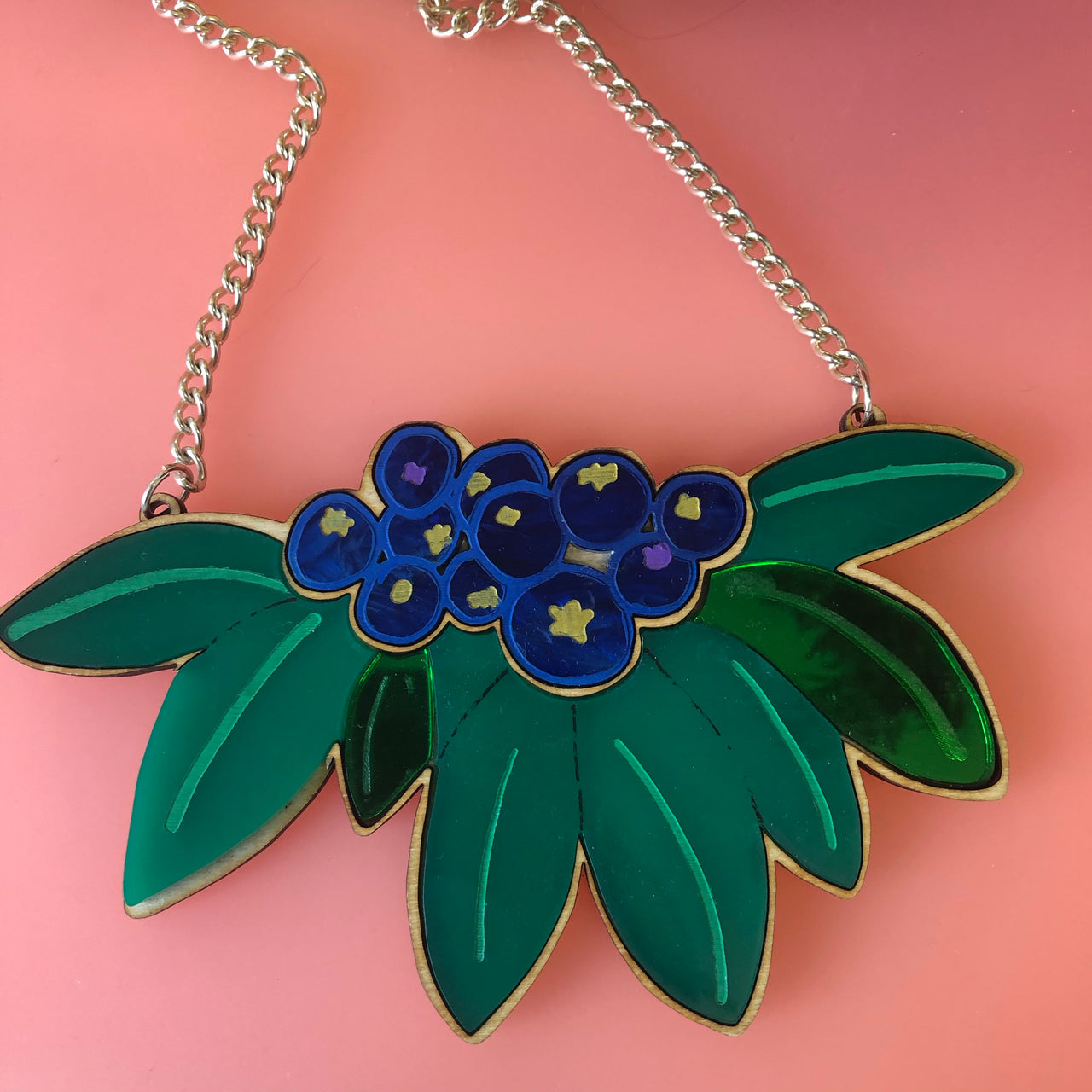 Blueberry Statement Necklace