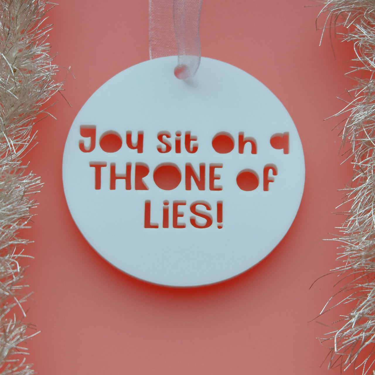 Throne of Lies - Elf Movie Quote Christmas Decoration