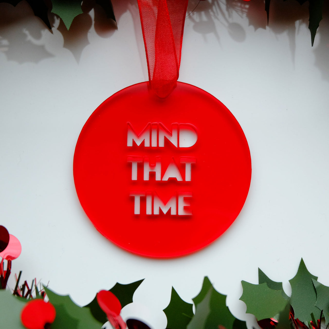Mind That Time - Scottish Bauble Christmas Tree Decoration