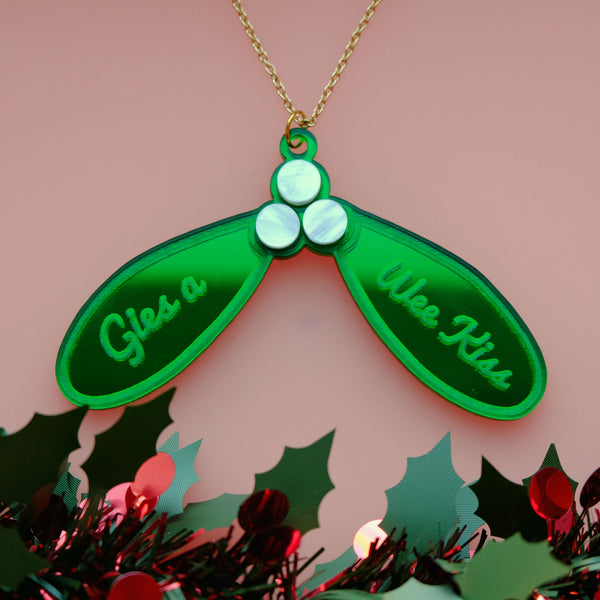 Limited Edition Christmas Mistletoe Statement Necklace