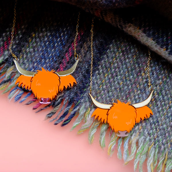 Wee Cow - Highland Cow Necklace
