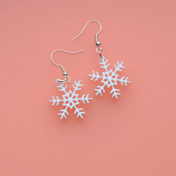 Wee Snowflake Drop Earrings