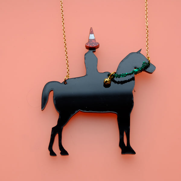 LIMITED EDITION Festive Christmas Duke of Wellington Necklace with Traffic Cone and Jingle Bell