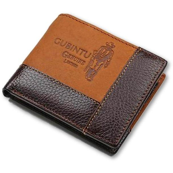 Brown Blended Genuine Leather Wallets - Novel Luxury - A men's accessory company