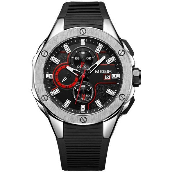 Silicone Sport Wrist Watch - Novel Luxury - A men's accessory company